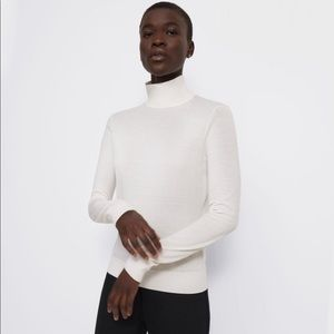 THEORY Turtleneck Sweater in Regal Wool, Ivory, P